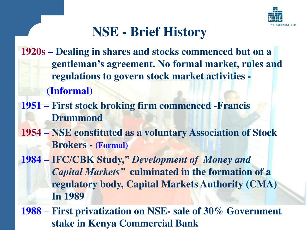 NSE - Brief History