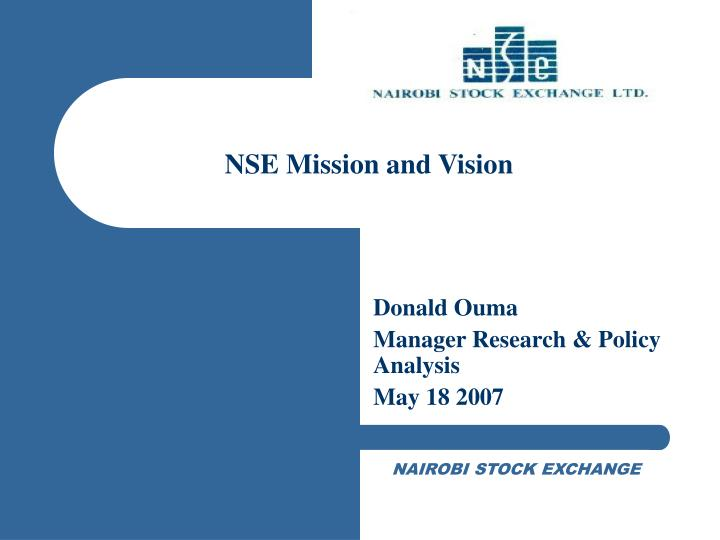 Nse mission and vision