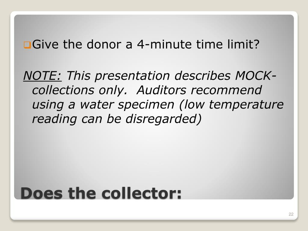 Give the donor a 4-minute time limit?