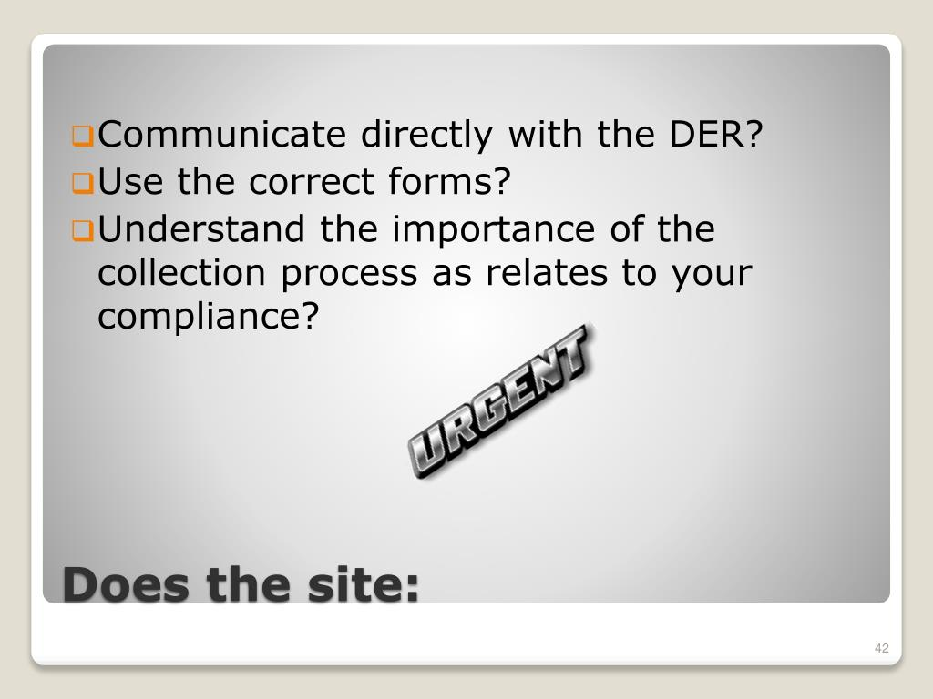 Communicate directly with the DER?