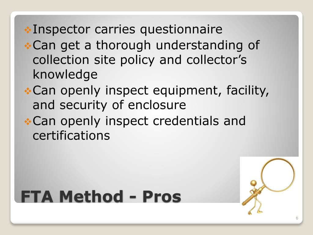 Inspector carries questionnaire