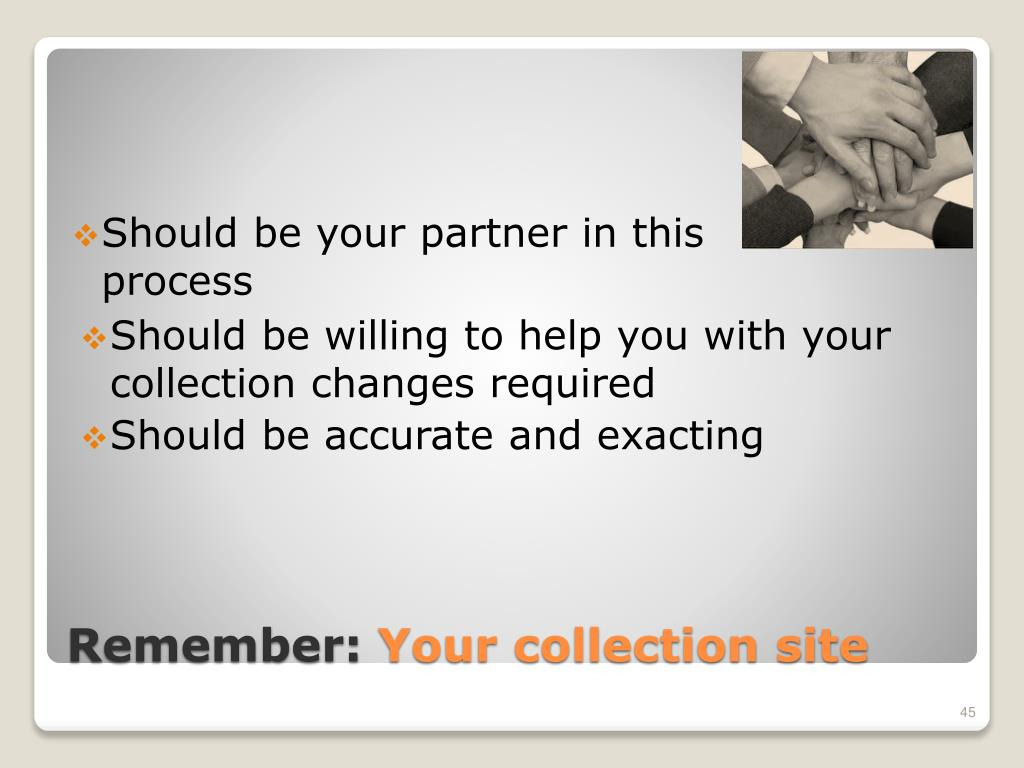 Should be willing to help you with your collection changes required