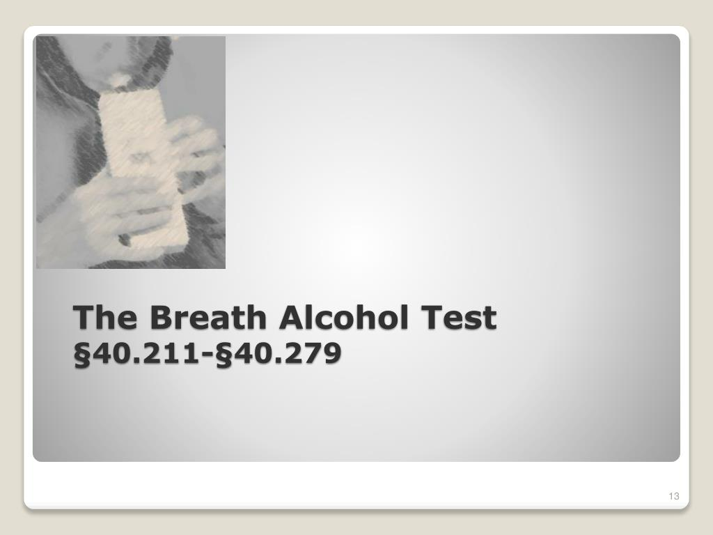 The Breath Alcohol Test