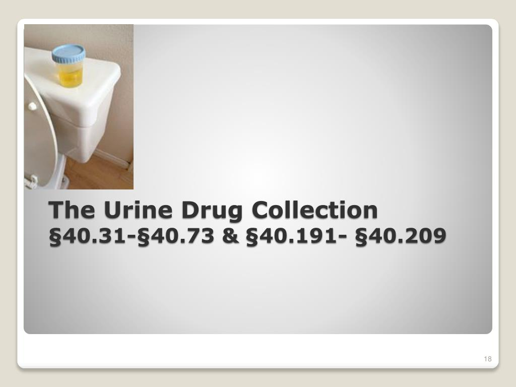 The Urine Drug Collection