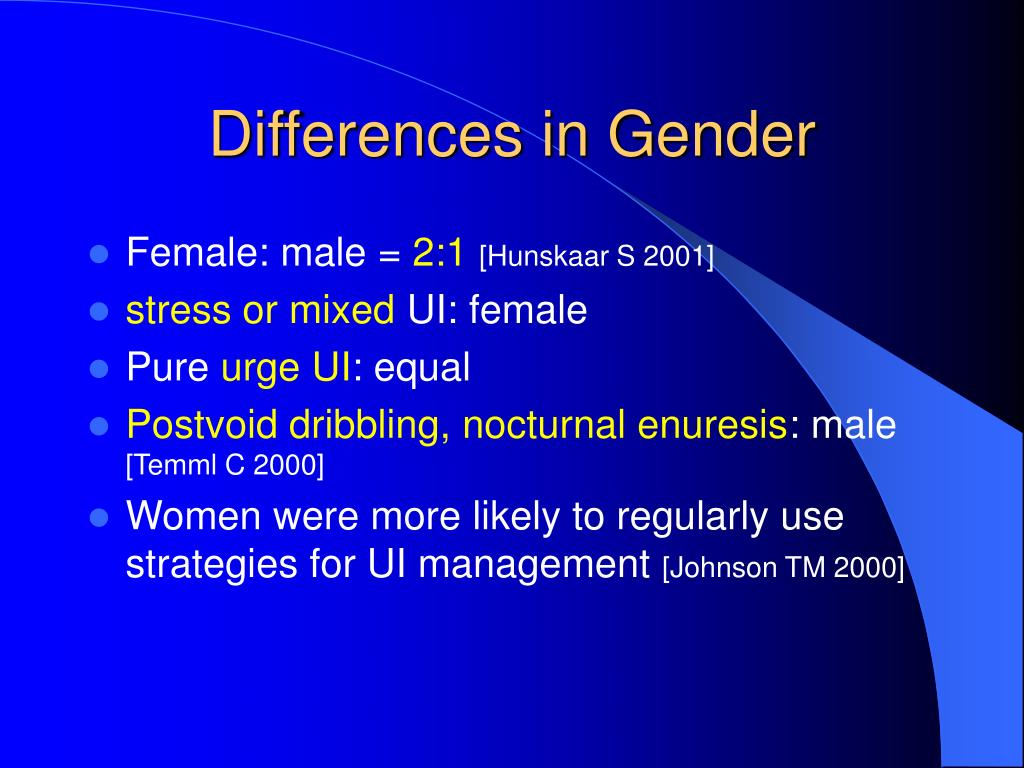 Differences in Gender