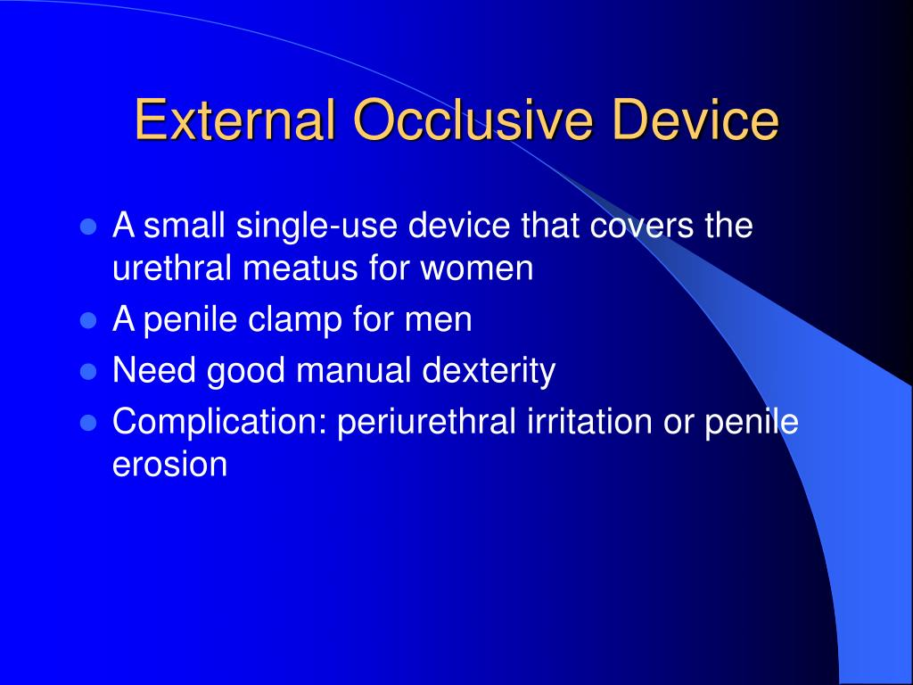 External Occlusive Device