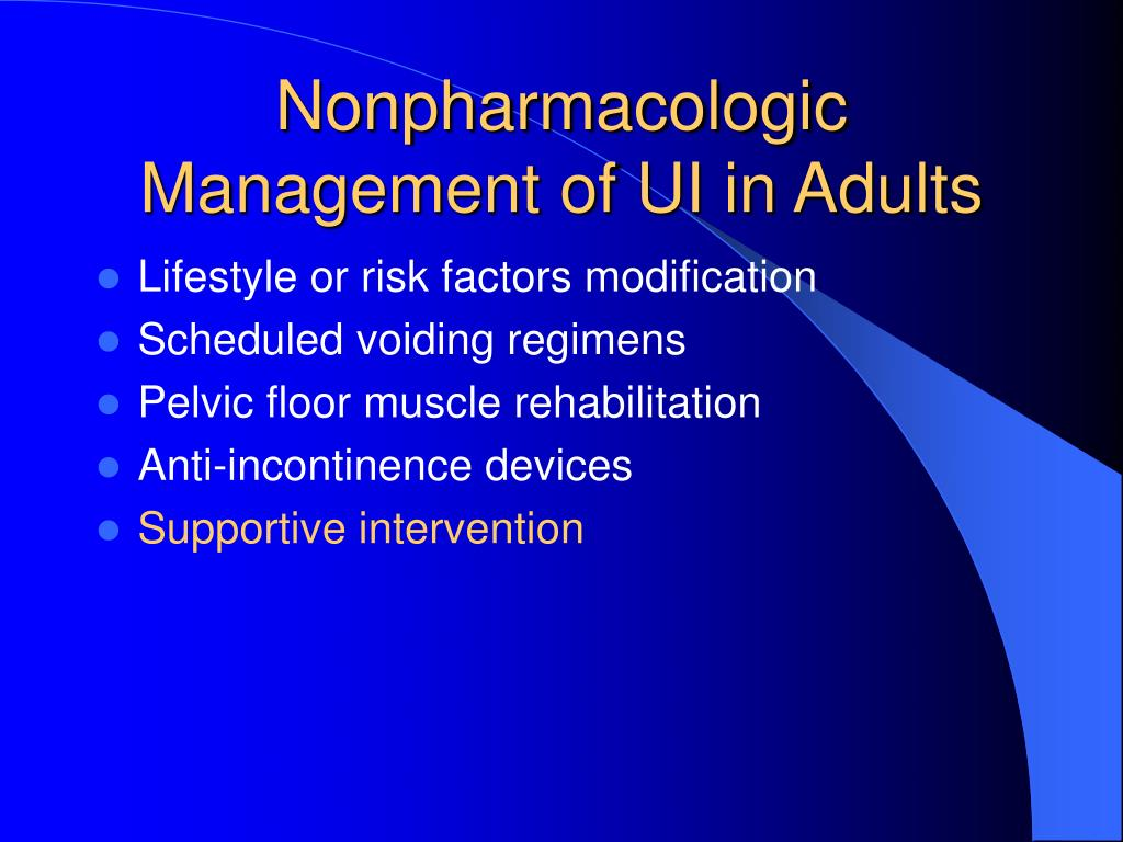 Nonpharmacologic Management of UI in Adults