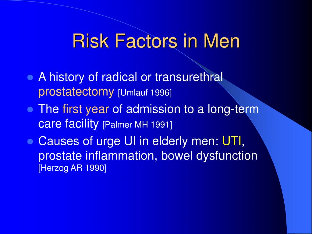 Risk Factors in Men