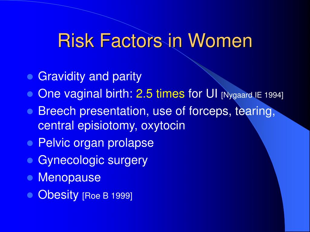 Risk Factors in Women