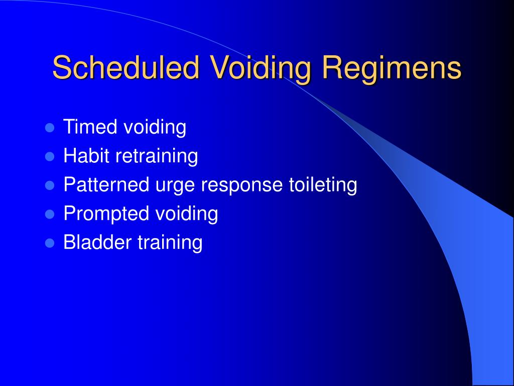 Scheduled Voiding Regimens