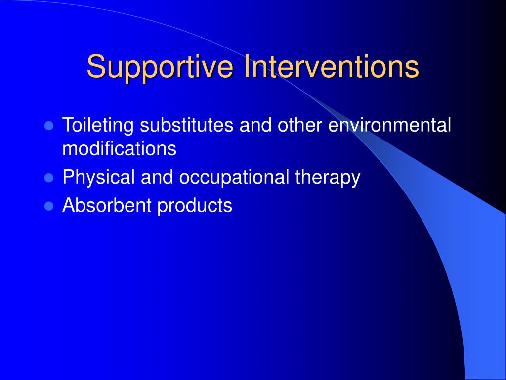 Supportive Interventions