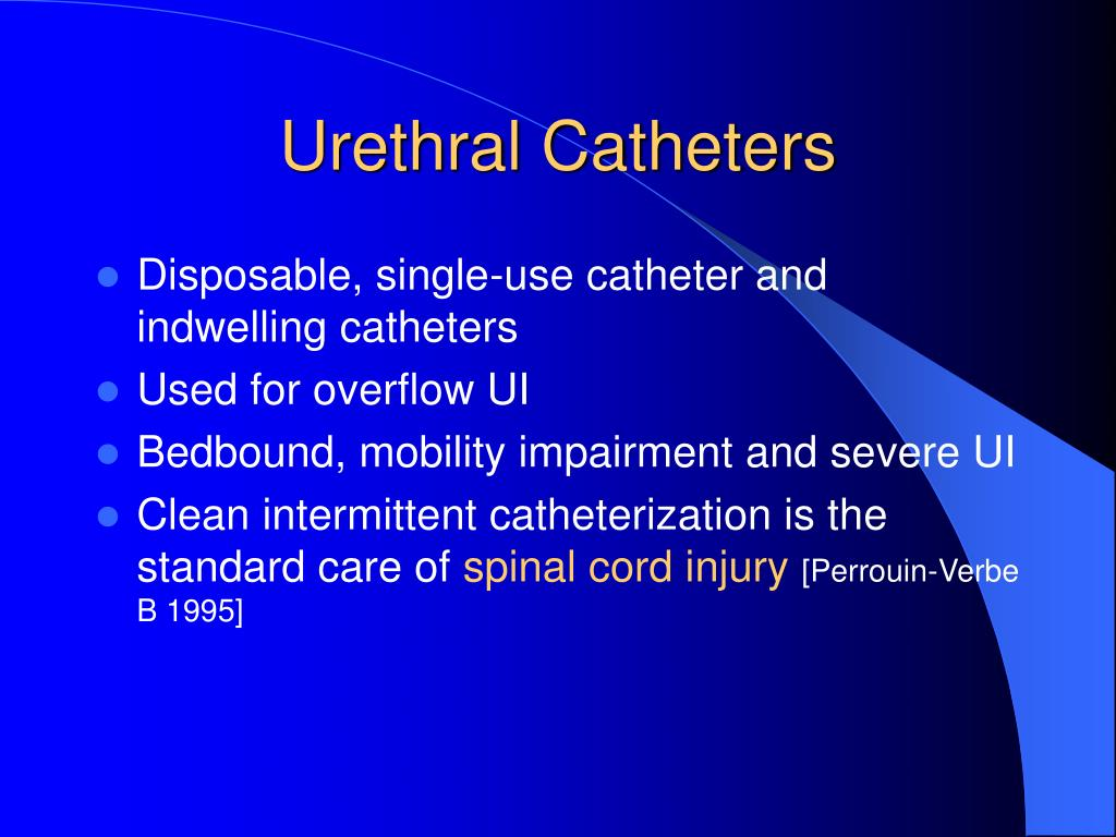 Urethral Catheters