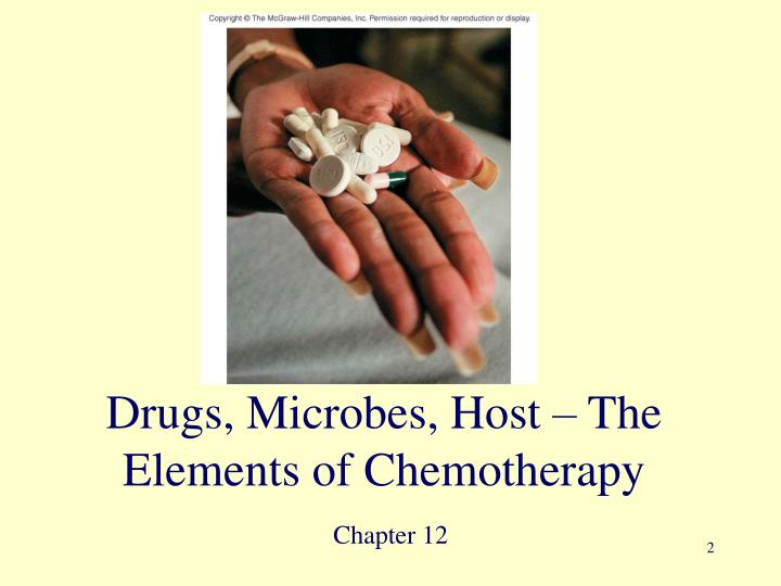 Drugs microbes host the elements of chemotherapy