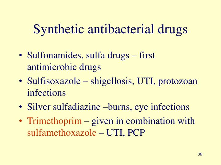 Synthetic antibacterial drugs