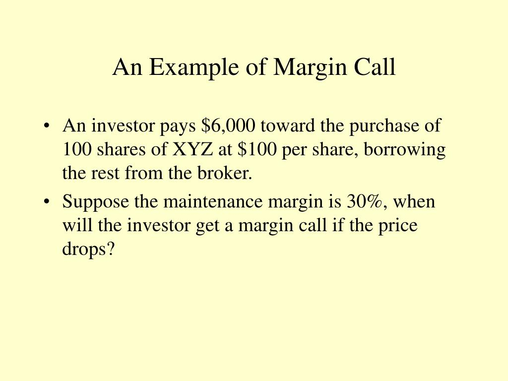 An Example of Margin Call