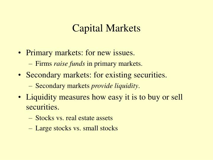 Capital markets l.jpg