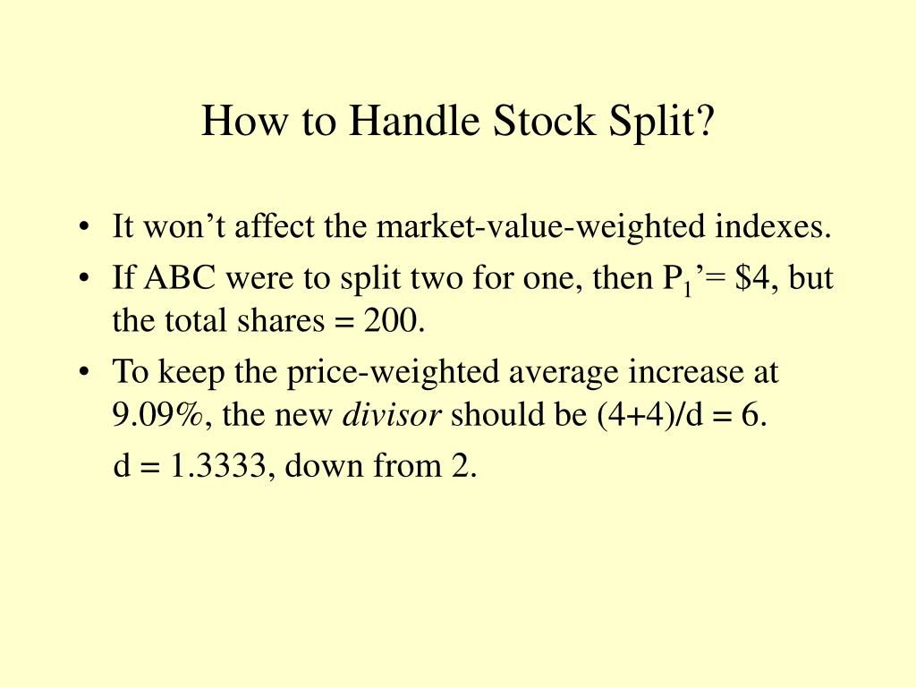 How to Handle Stock Split?