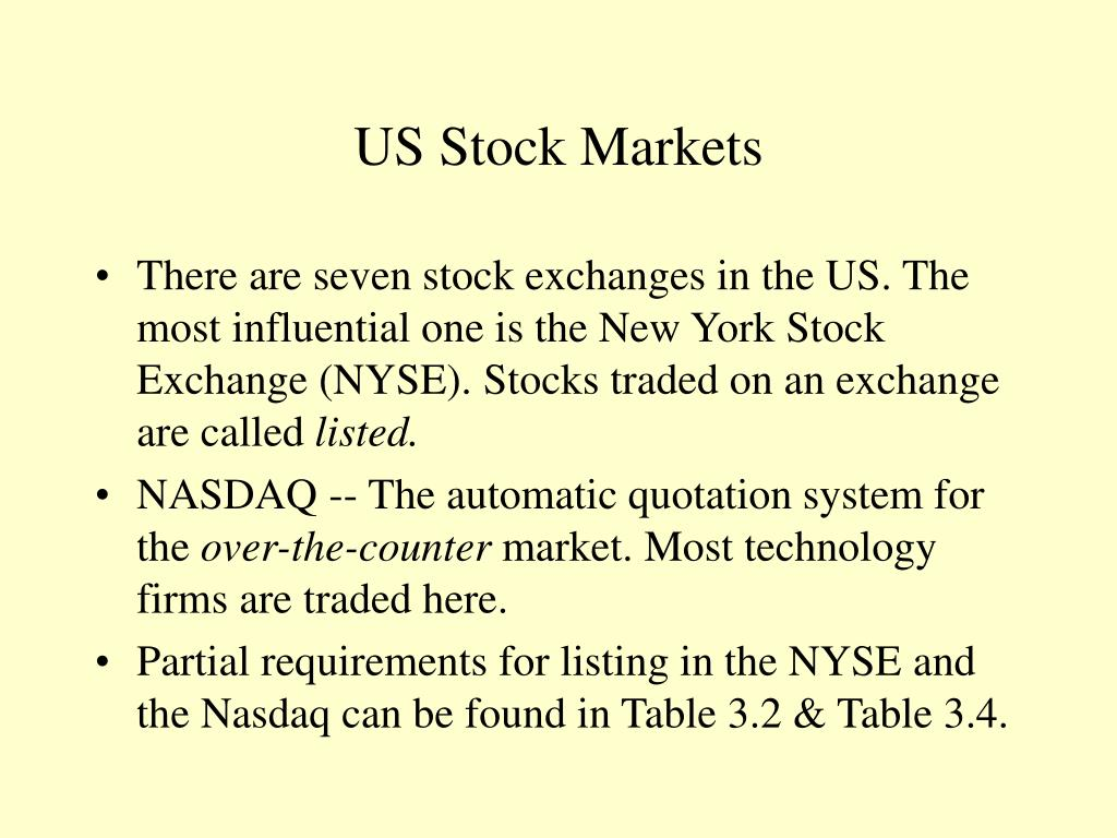 US Stock Markets