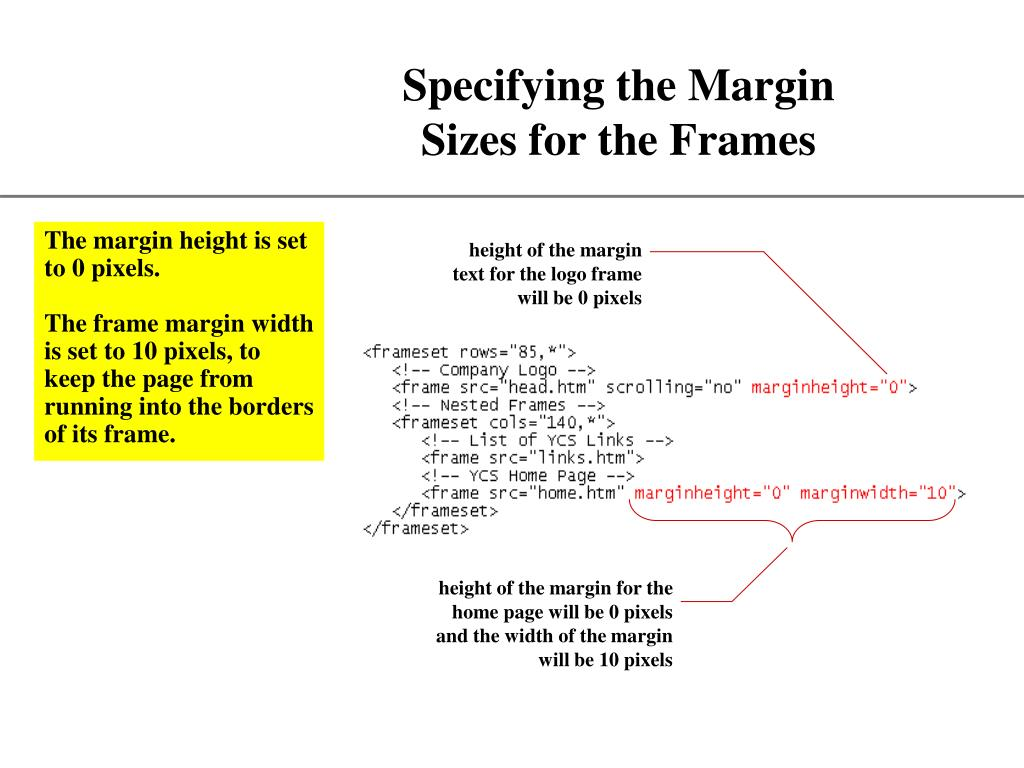 height of the margin text for the logo frame will be 0 pixels