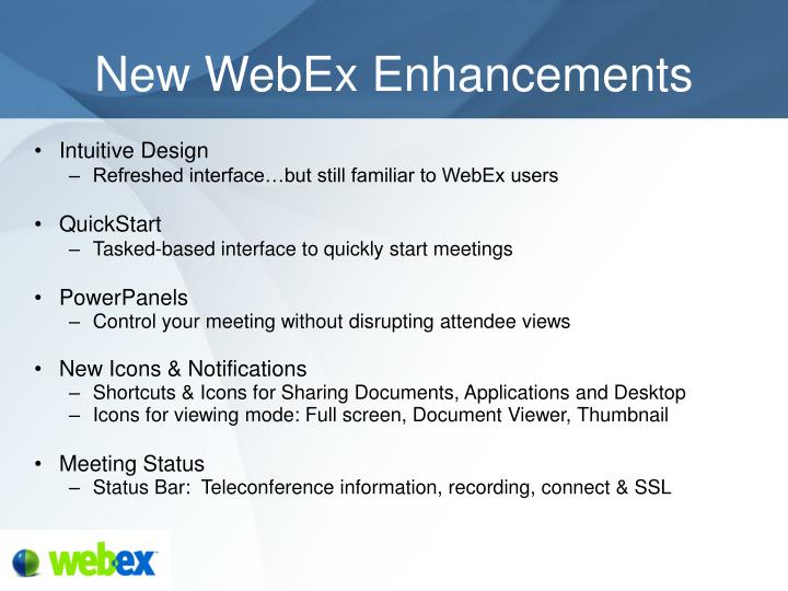 New webex enhancements