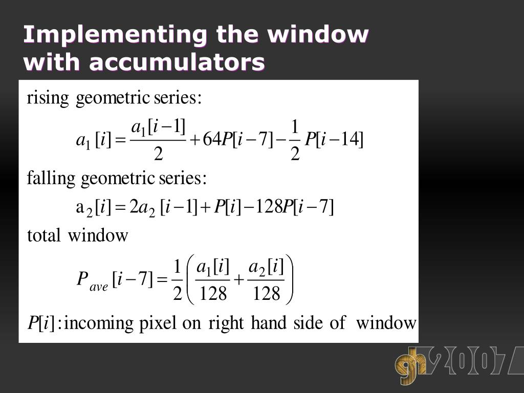 Implementing the window