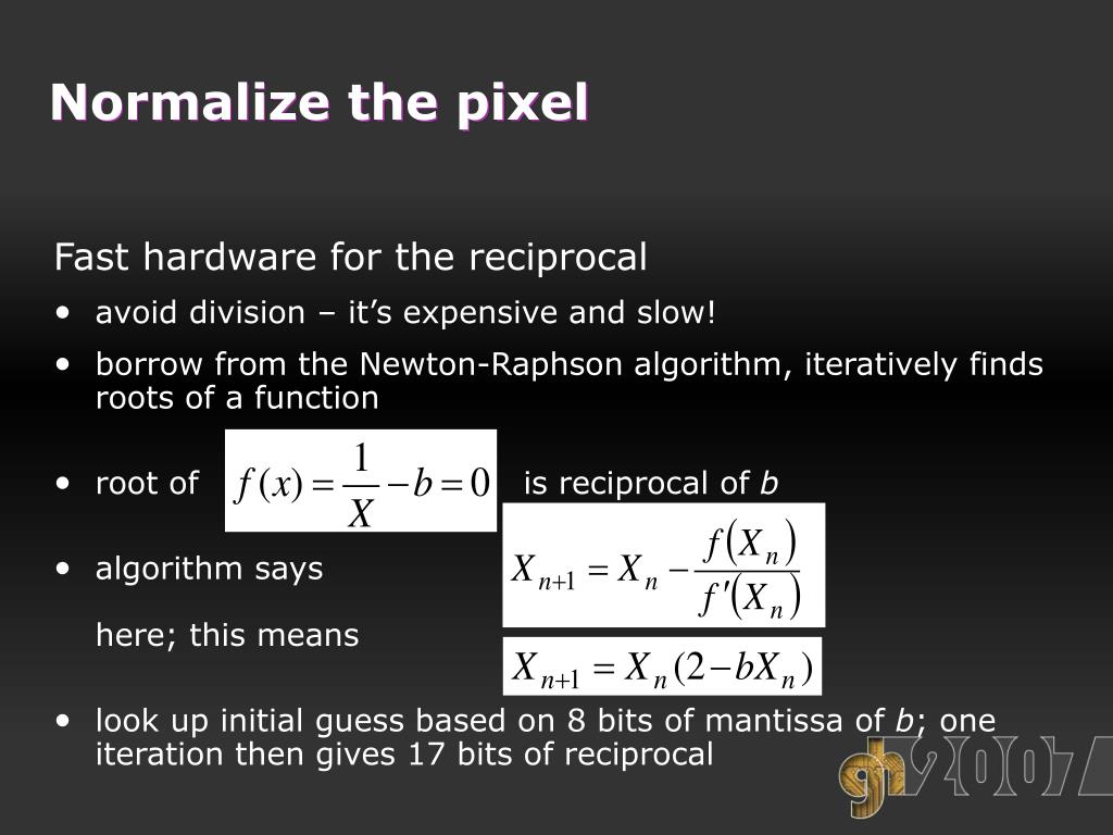 Normalize the pixel