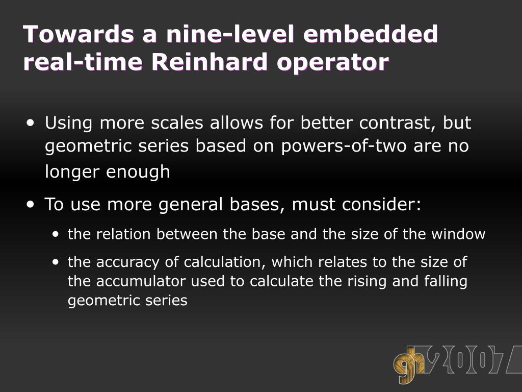 Towards a nine-level embedded