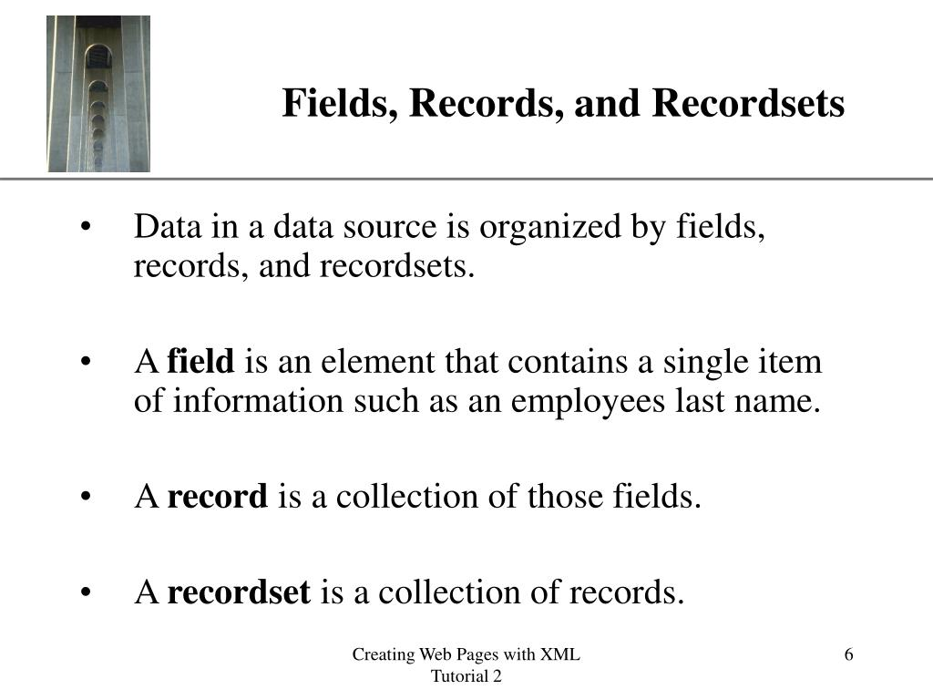 Fields, Records, and Recordsets
