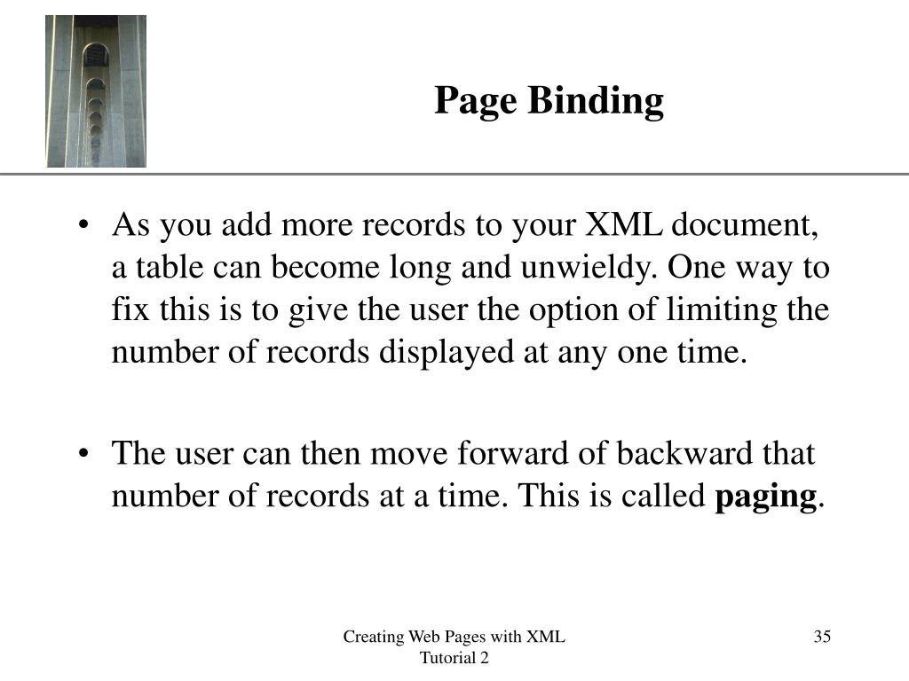 Page Binding