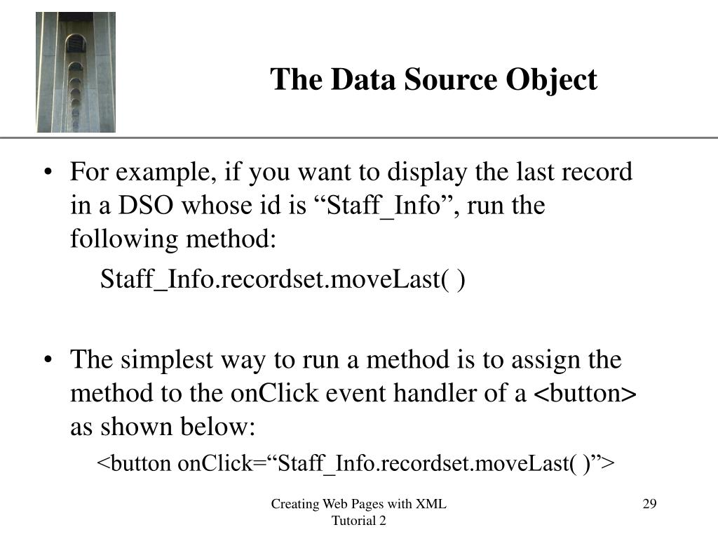 The Data Source Object