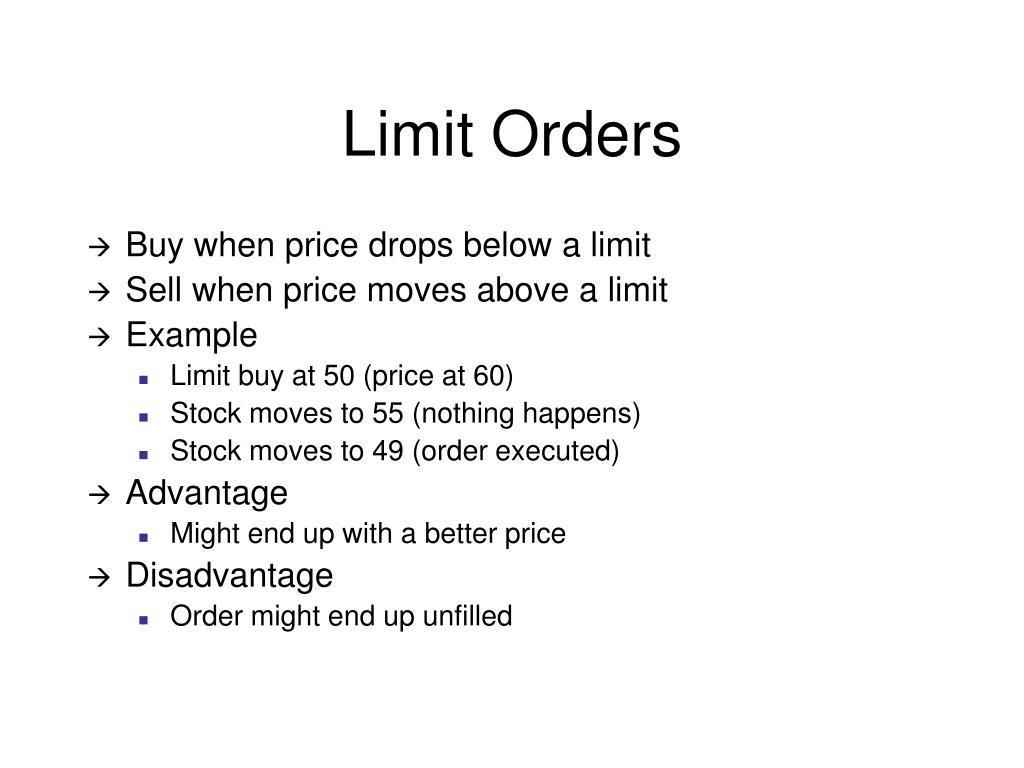Limit Orders