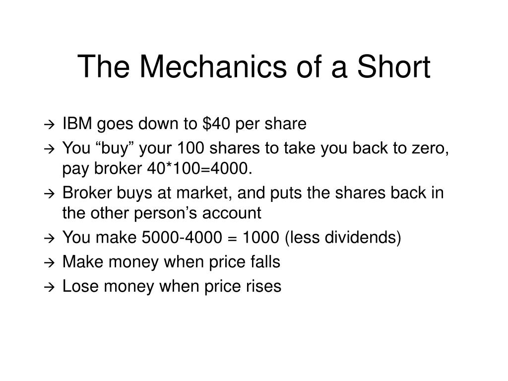The Mechanics of a Short