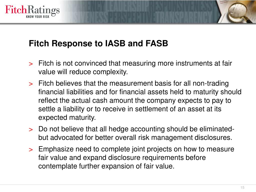 Fitch Response to IASB and FASB