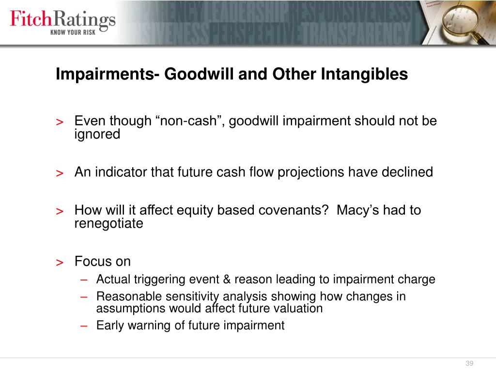 Impairments- Goodwill and Other Intangibles