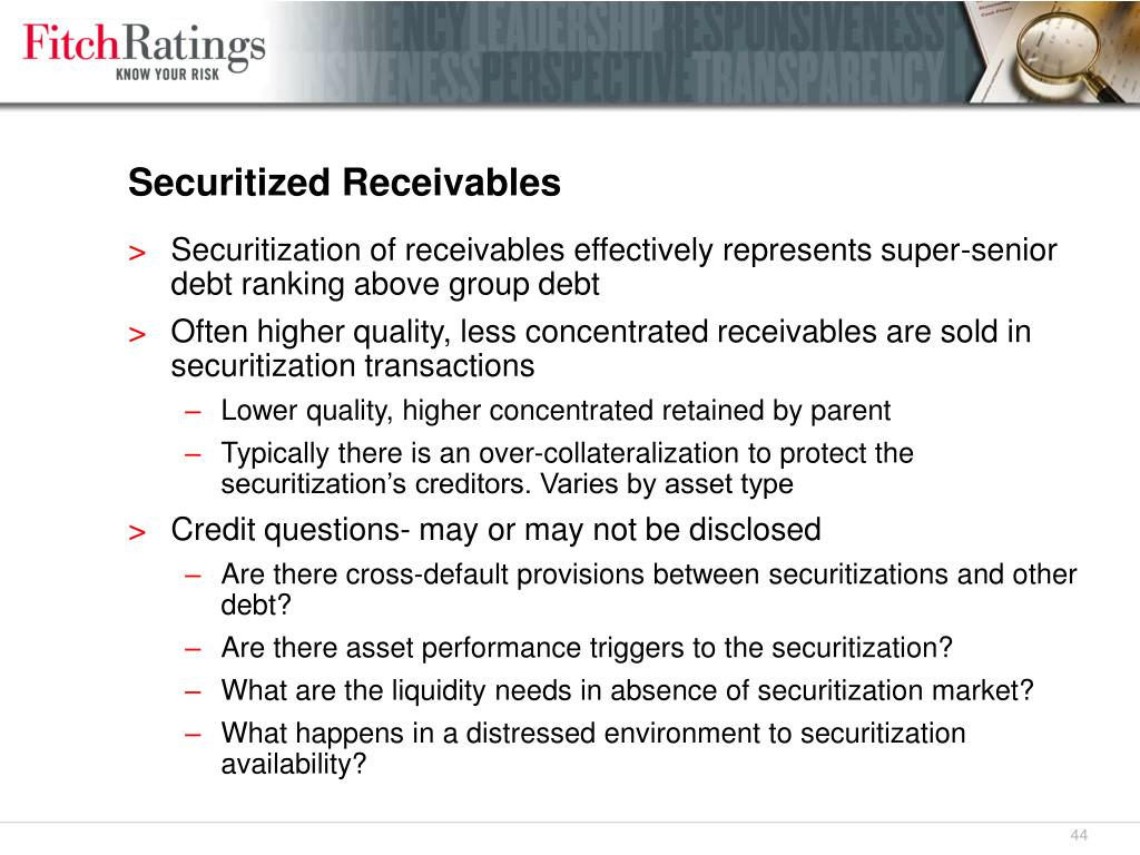 Securitized Receivables