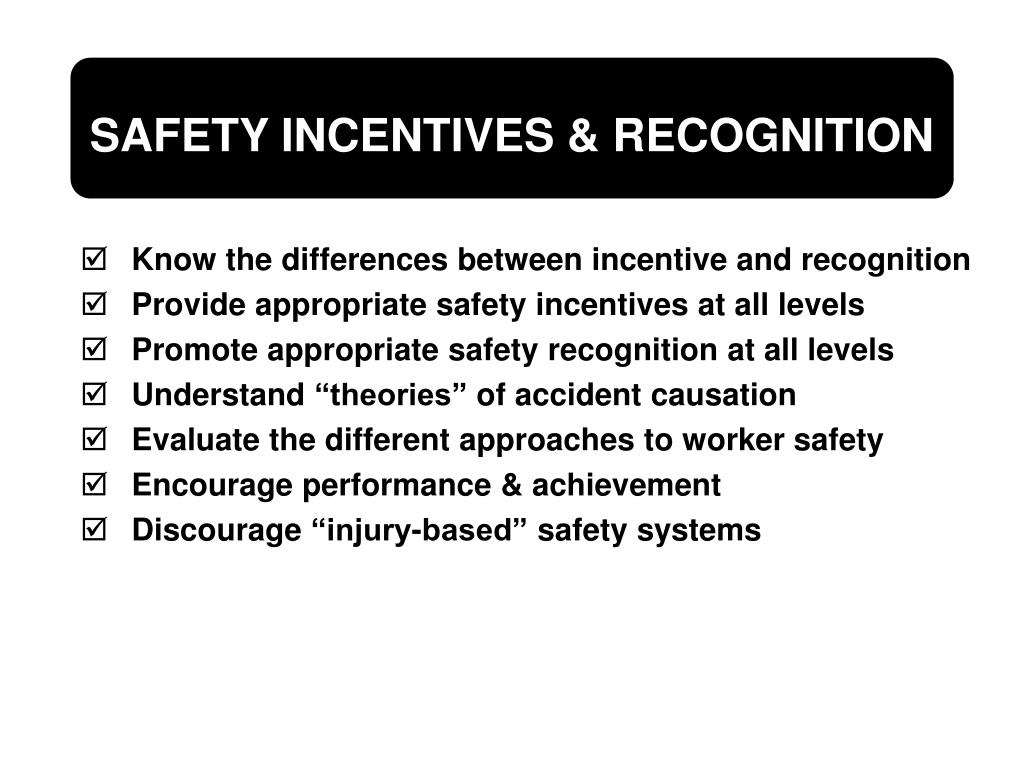Know the differences between incentive and recognition