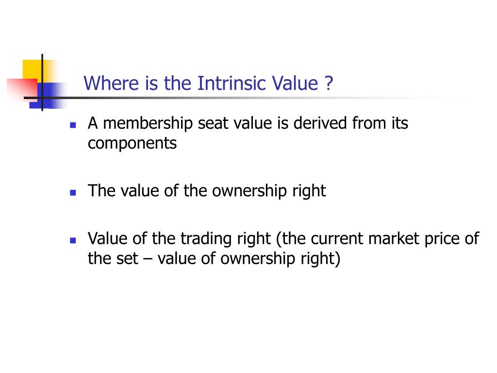 Where is the Intrinsic Value ?