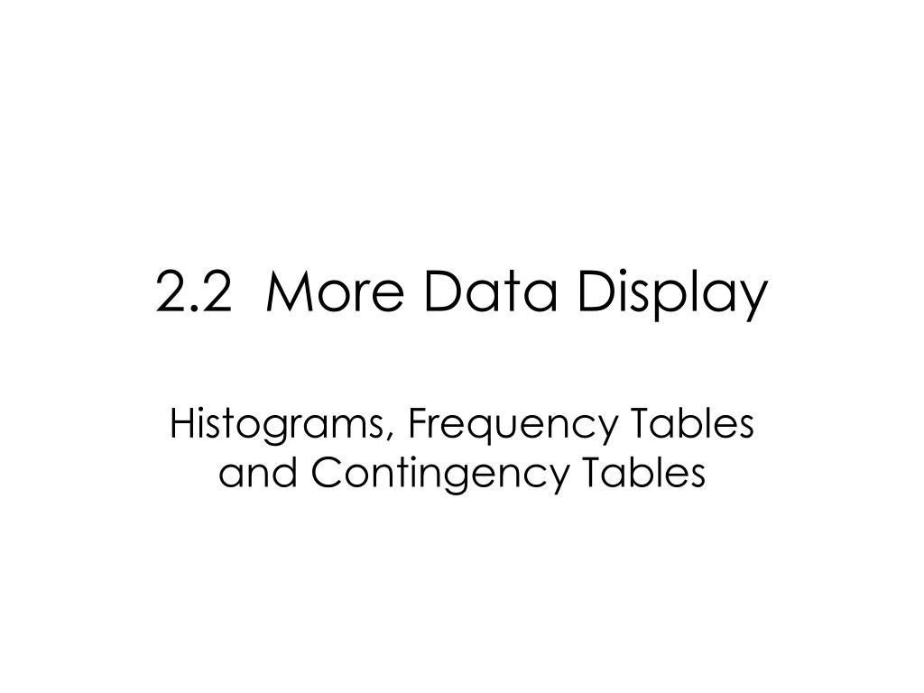 2.2  More Data Display