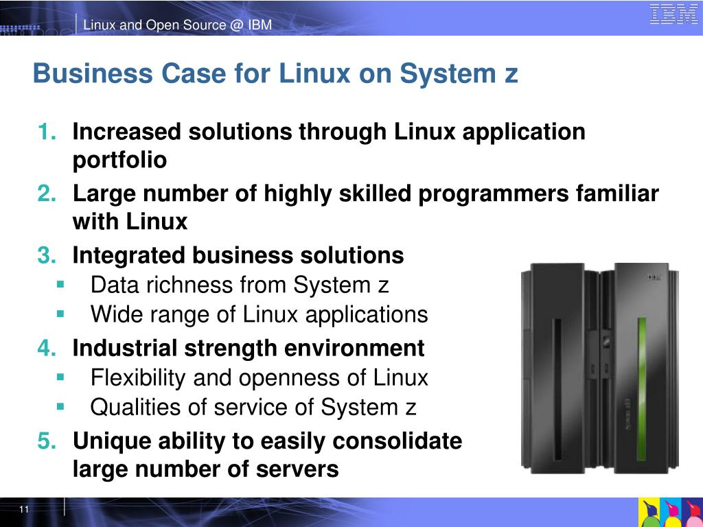 Business Case for Linux on System z