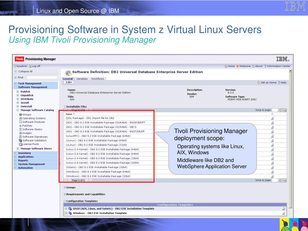 Provisioning Software in System z Virtual Linux Servers