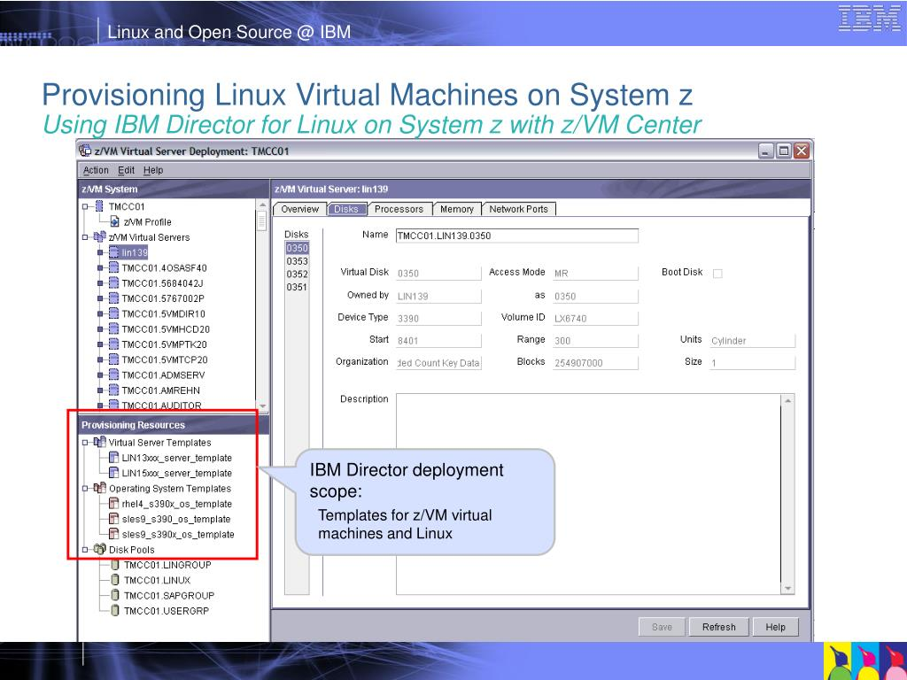 Provisioning Linux Virtual Machines on System z