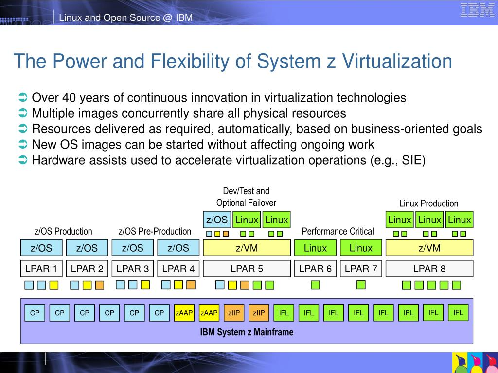 The Power and Flexibility of System z Virtualization