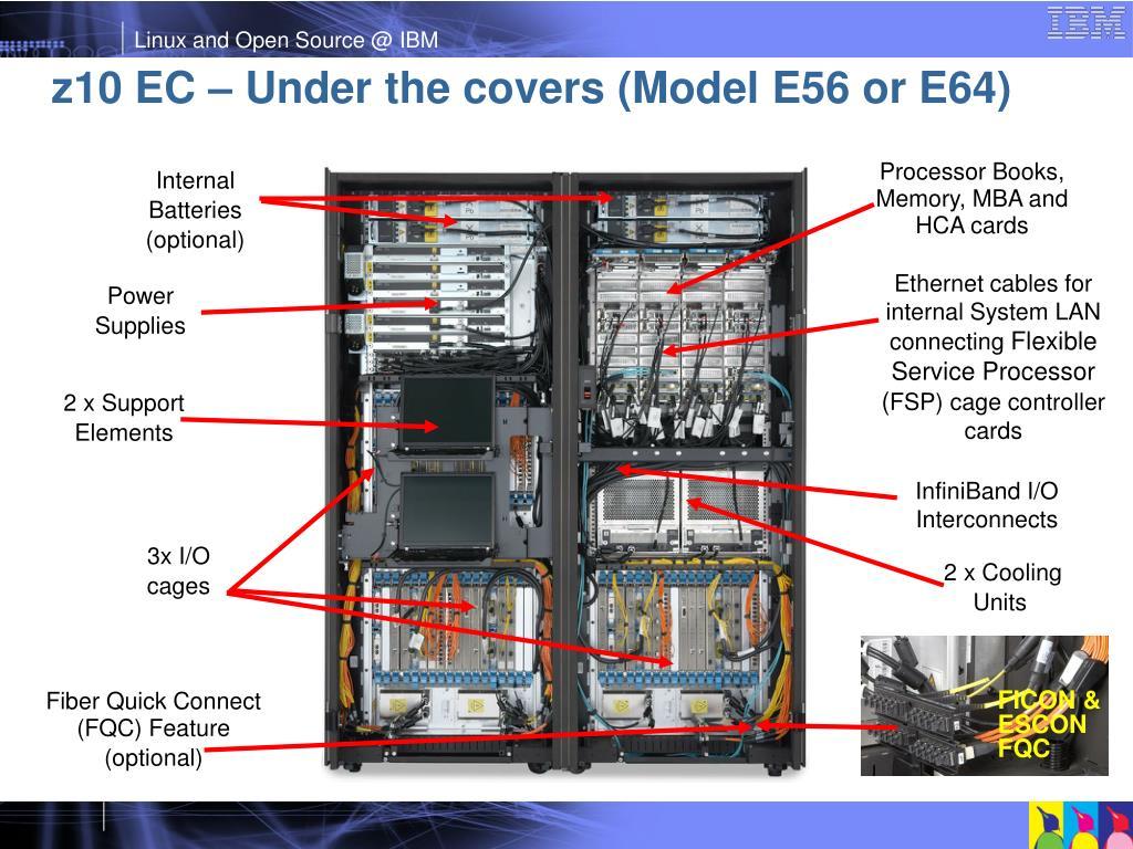 z10 EC – Under the covers (Model E56 or E64)