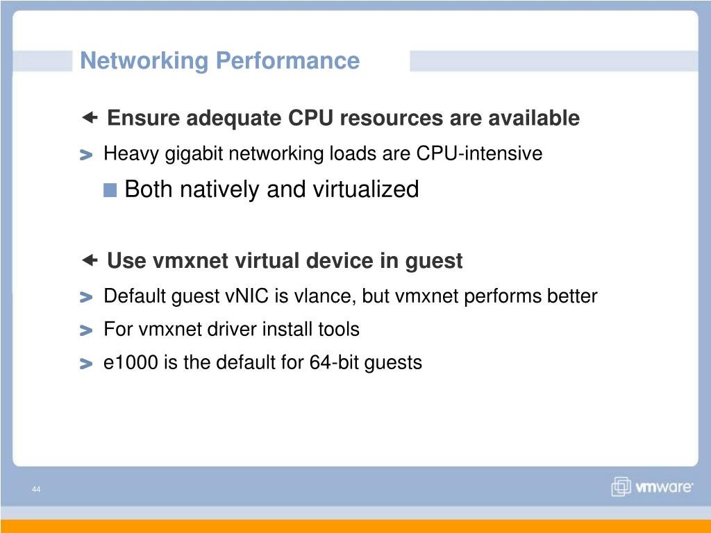 Networking Performance