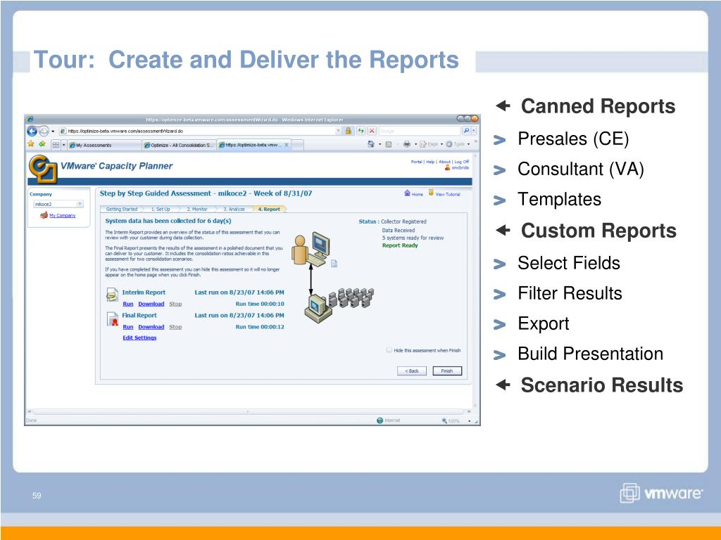 Tour:  Create and Deliver the Reports