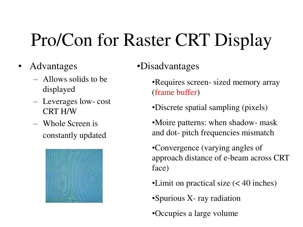 Pro/Con for Raster CRT Display