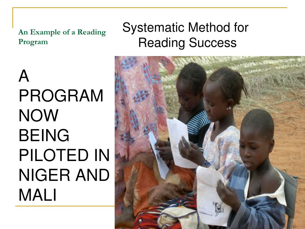 An Example of a Reading Program