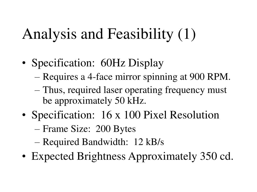 Analysis and Feasibility (1)