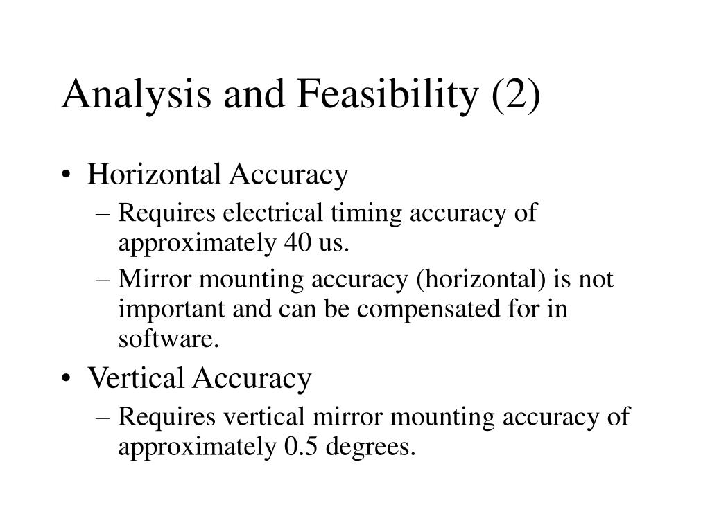 Analysis and Feasibility (2)