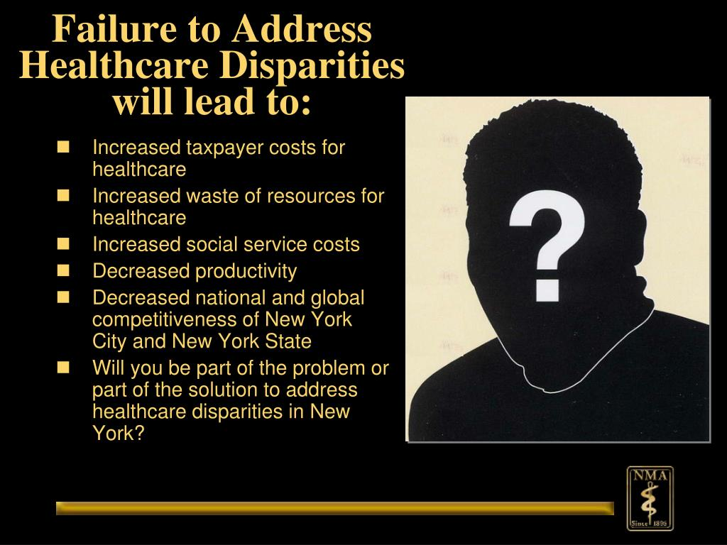 Failure to Address Healthcare Disparities will lead to: